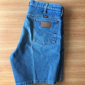 Vintage Wrangler Jean Shorts Size 35 Made in USA
